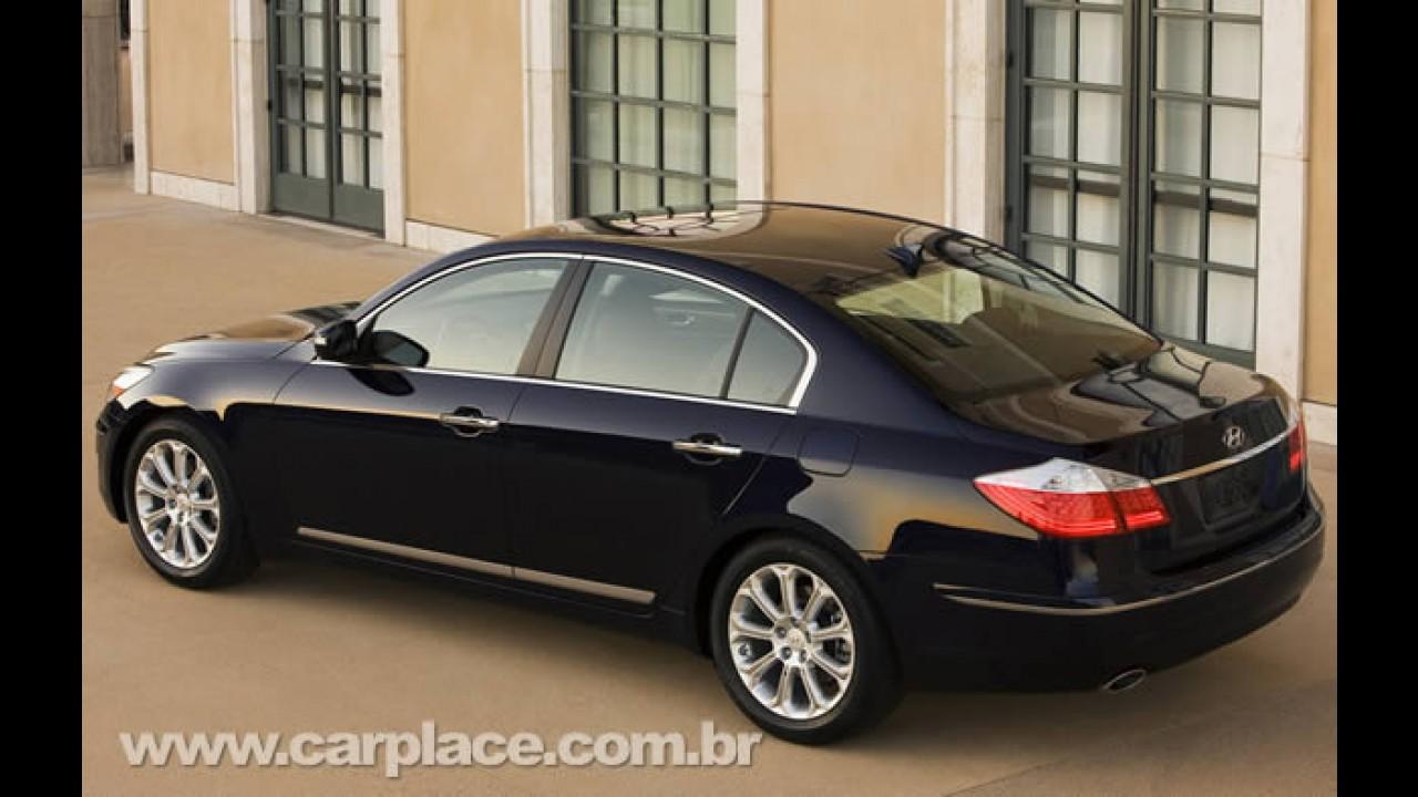 Hyundai Genesis será lançado no Brasil em breve - Marca já anuncia em seu site