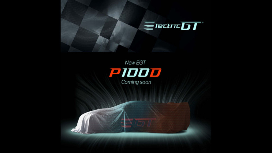 Electric GT Tesla racing series teases more powerful P100D