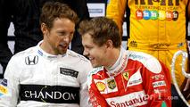Jenson Button and Sebastian Vettel