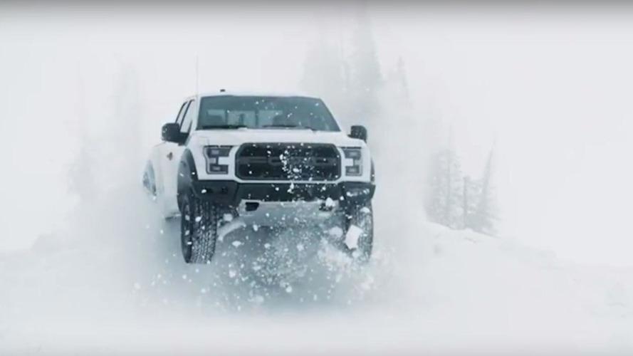 Ken Block brinca na neve com uma Ford F-150 Raptor