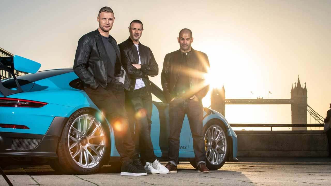 Top Gear hosts Paddy McGuinness, Andrew Flintoff and Chris Harris