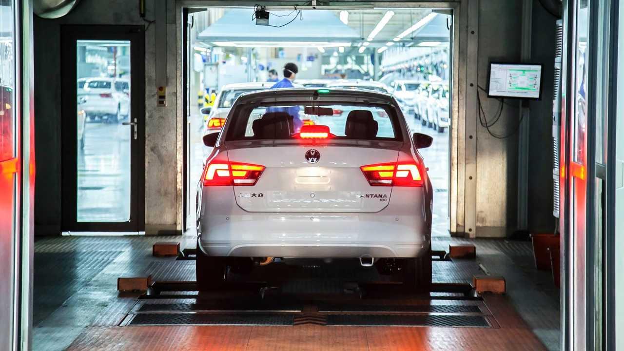 Shanghai Volkswagen factory Santana sedan