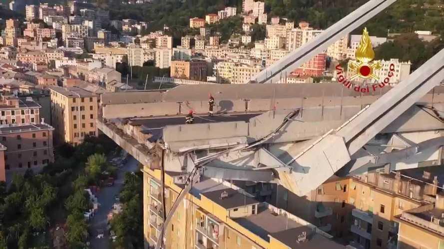 Ponte Morandi, al via la demolizione