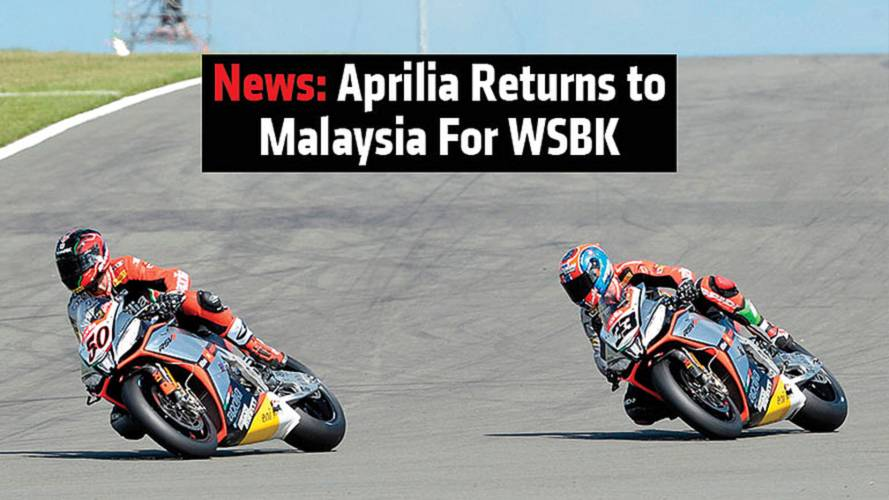 News: Aprilia Returns to Malaysia For WSBK