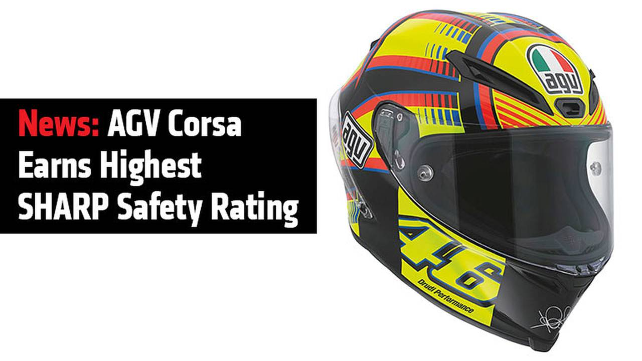 News: AGV Corsa Earns Highest SHARP Safety Rating