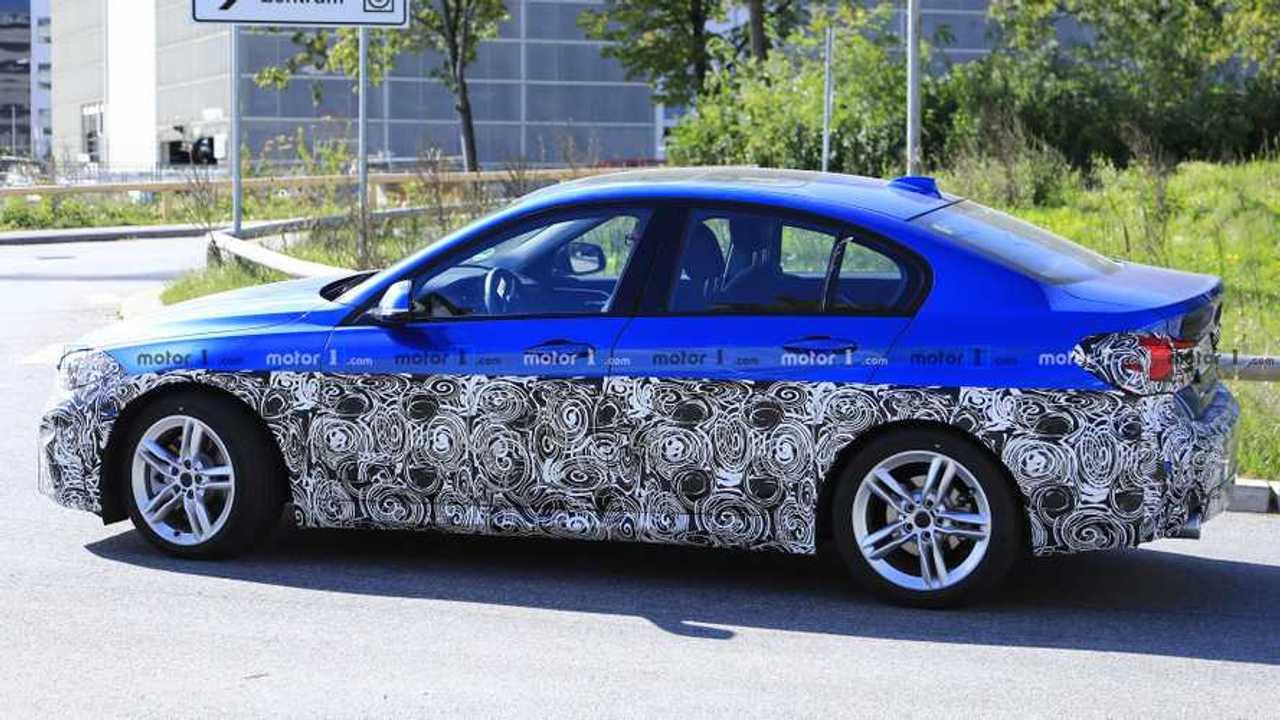 BMW 1 Series Sedan facelift spy photo