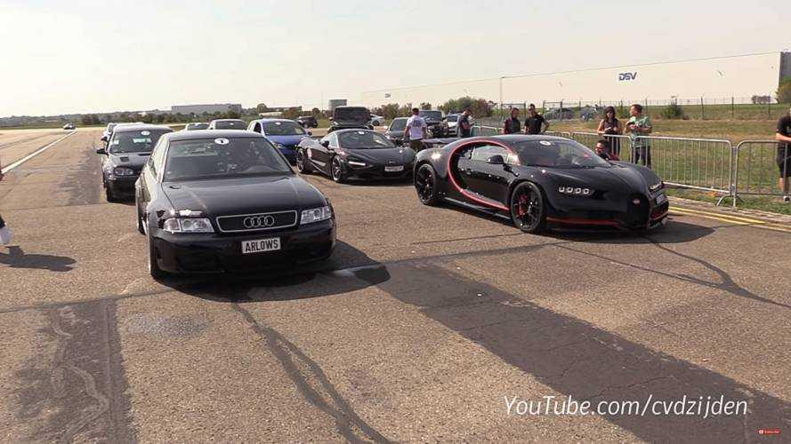 Audi Vs. Bugatti Drag Race