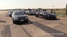 Audi Vs. Bugatti Drag Race