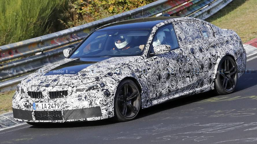 2020 BMW M3 spied with production headlights