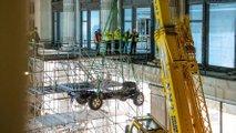 Land Rover Defender Works V8 Selfridges craned in