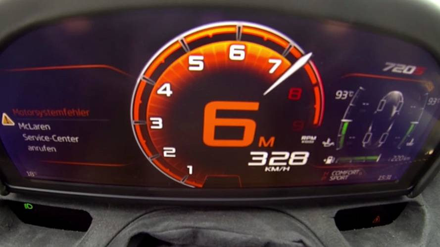 Watch McLaren 720S bounce off its redline as it races to 204 mph