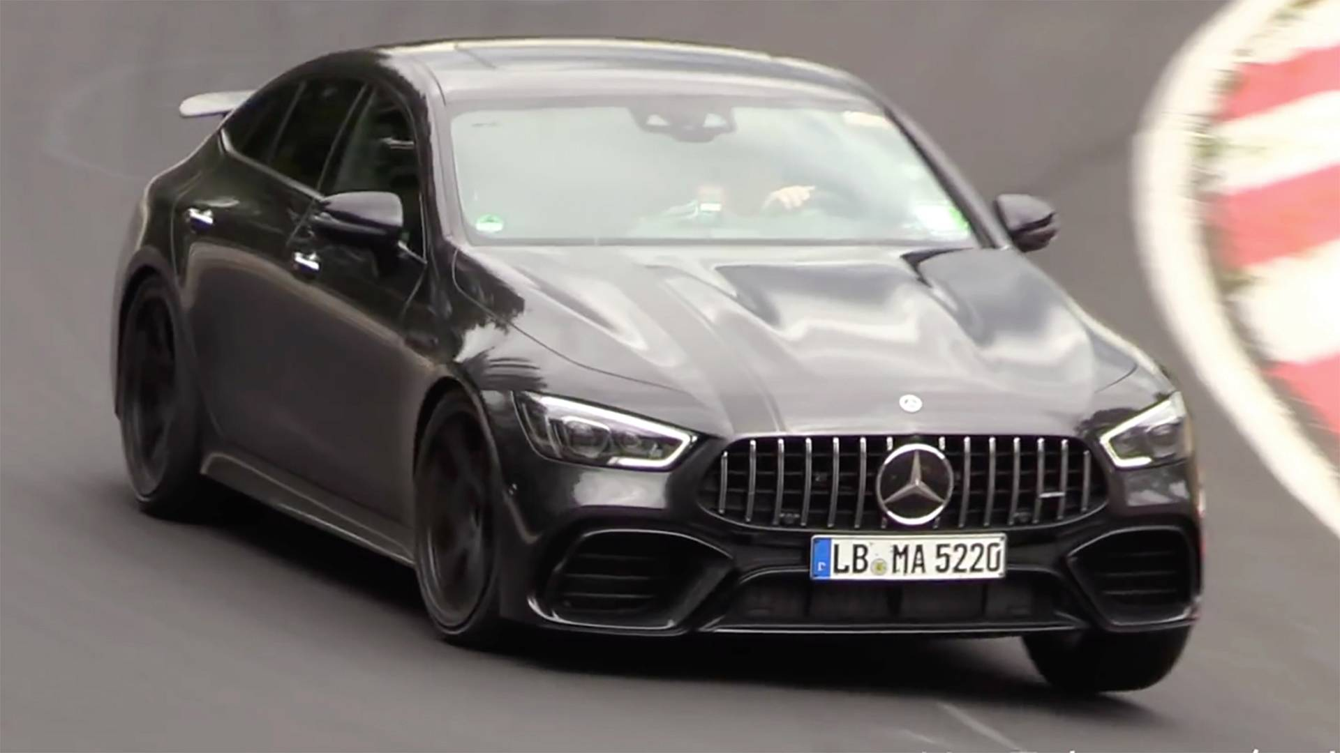 Watch The Mercedes Amg Gt 63 S Attack The Nurburgring