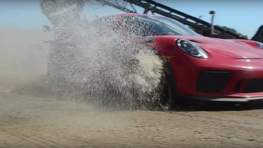 Watch a Porsche 911 GT3 RS being driven like a rally car