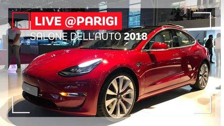 Tesla Model 3, a Parigi la full electric