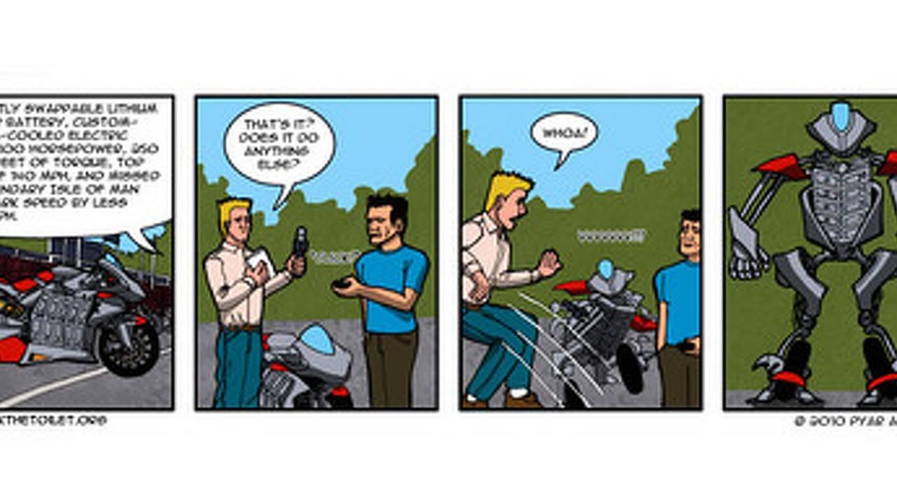 2010 MotoCzysz E1pc immortalized in comic