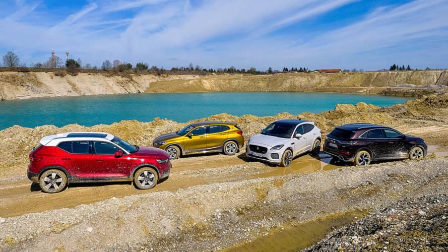 Kompakt-SUV-Test: BMW X2 vs Volvo XC40 vs Jaguar E-Pace vs DS7 Crossback