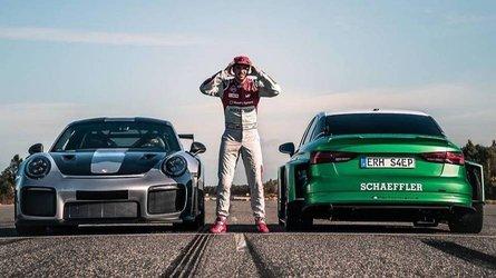L'Audi RS 3 électrique lancée à 207 km/h... en marche arrière