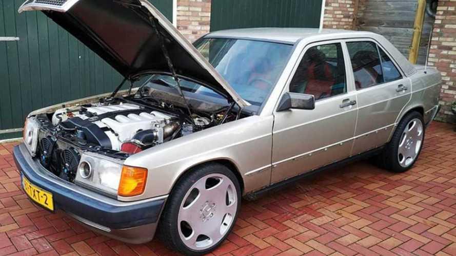 Vídeos: este Mercedes-Benz 190 lleva un motor V12 ¡y es una bala!
