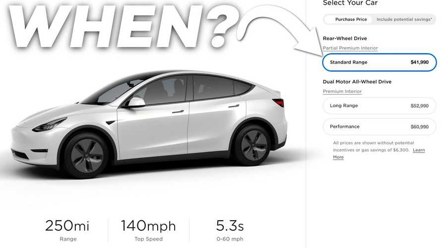 When Will The Tesla Model Y Standard Range Come To Market?