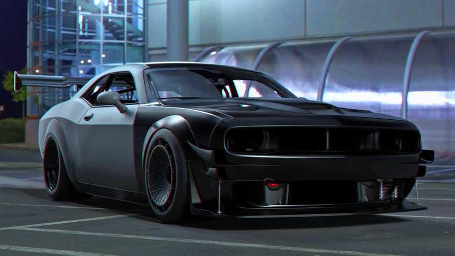 Challenger Hellcat rendering imagines a track-day monster