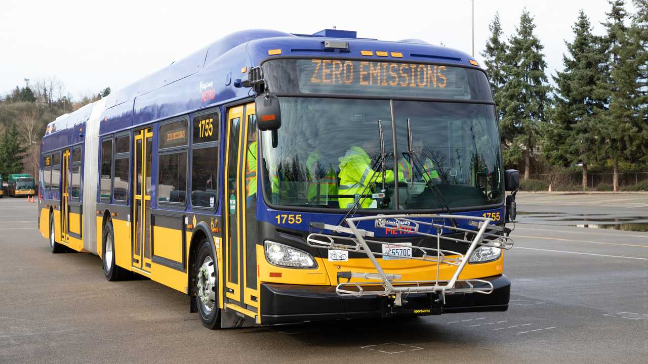 King County Metro sixty-foot Xcelsior CHARGE electric bus