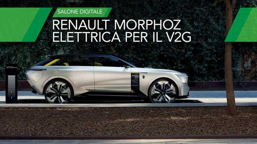 """Renault Morphoz, il concept con una batteria """"in più"""" per il V2G"""