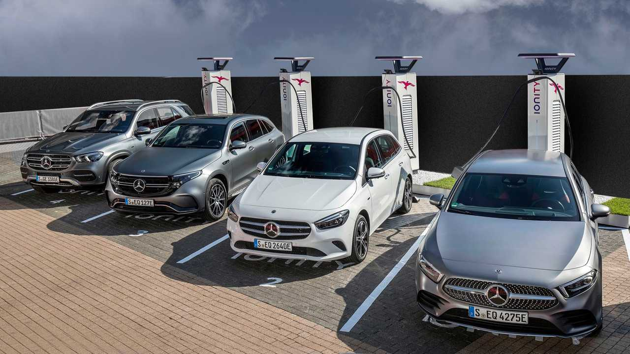 Mercedes-Benz EQC at the IONITY fast charging station