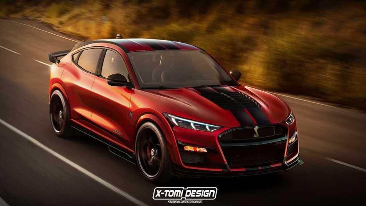 Ford Mustang Mach E Shelby renderkép