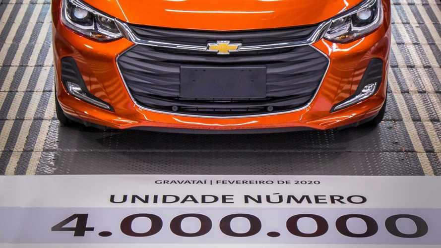 Chevrolet alcança 4 milhões de veículos produzidos em Gravataí (RS)