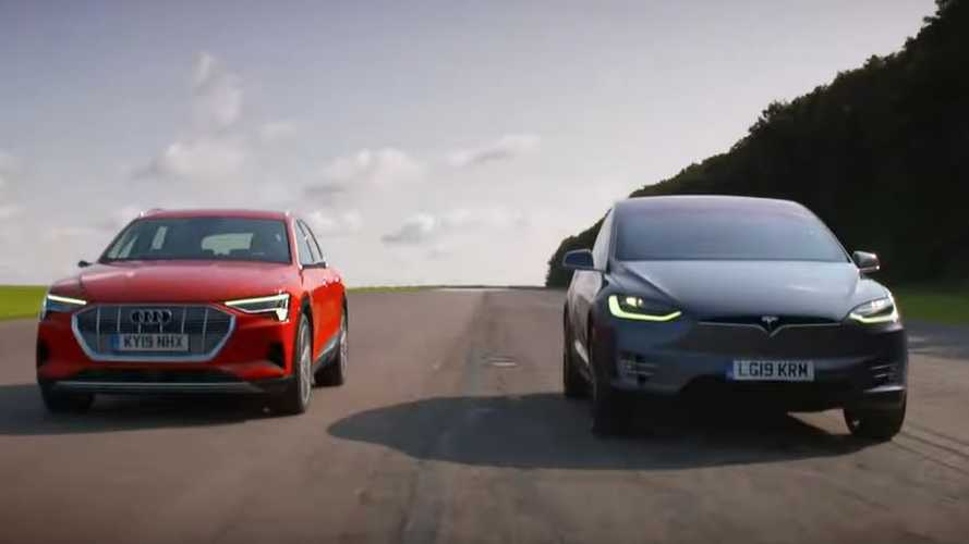 Tesla Model X Vs Audi e-tron:  Epic Electric SUV Twisty Track Battle
