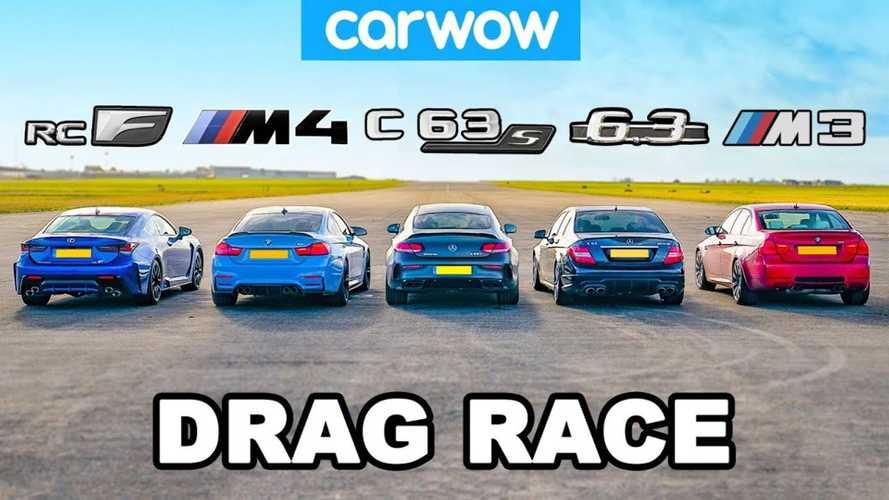 Lexus RC F Drag Races M3, M4, And C63s