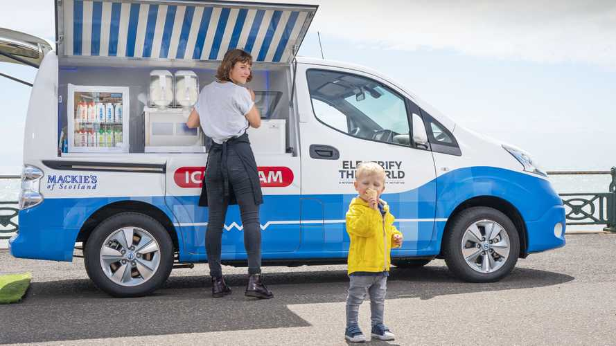 Nissan Keeps Cool With EV Ice Cream Van For CES