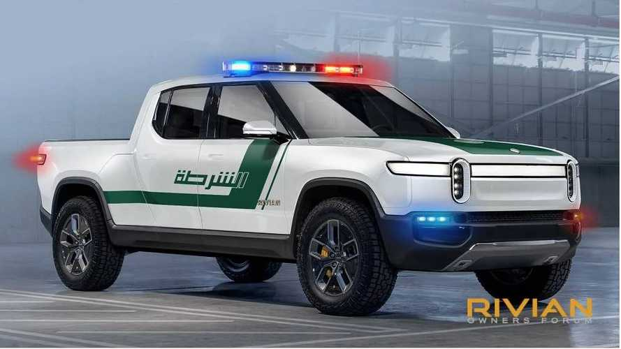 Check Out Rivian R1T Electric Truck & R1S As Police Cruisers