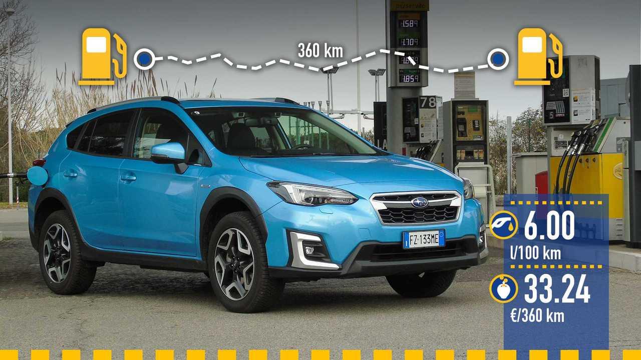 Subaru XV e-Boxer mild hybrid, la prova consumi