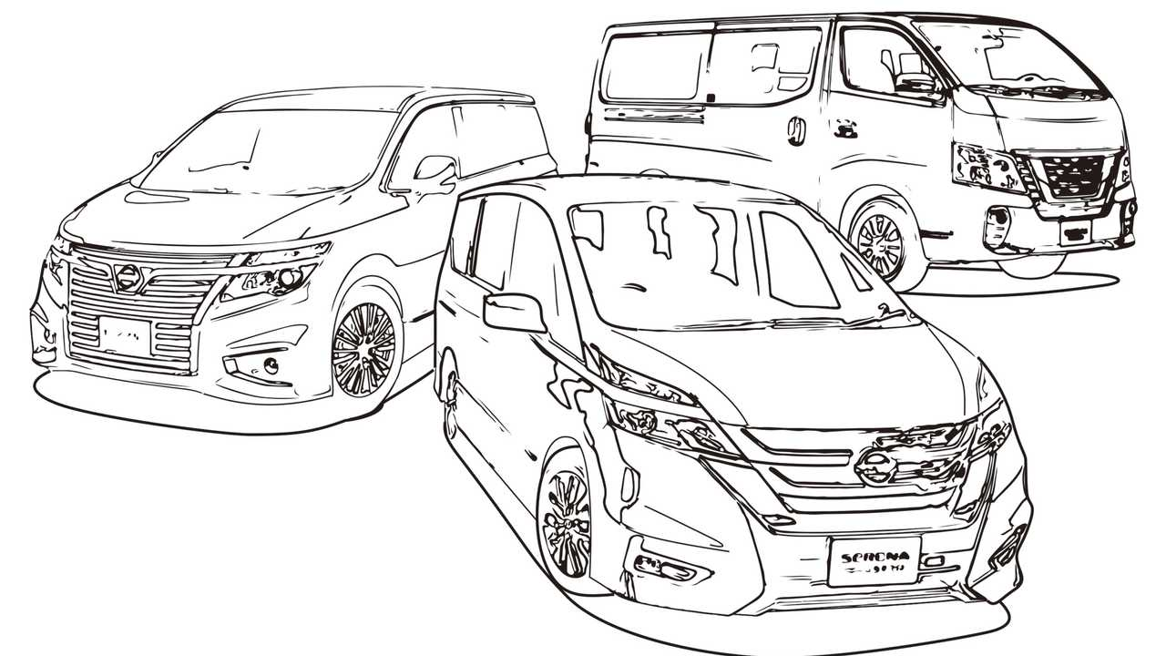 Nissan Coloring Book Pages | Motor1.com Photos