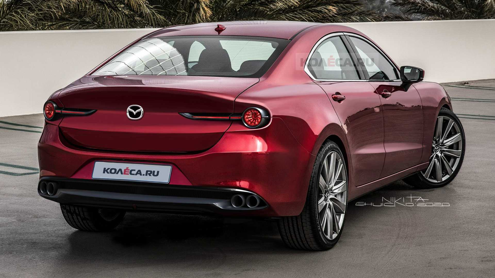 reardrive 2023 mazda6 rendered and we like what we see