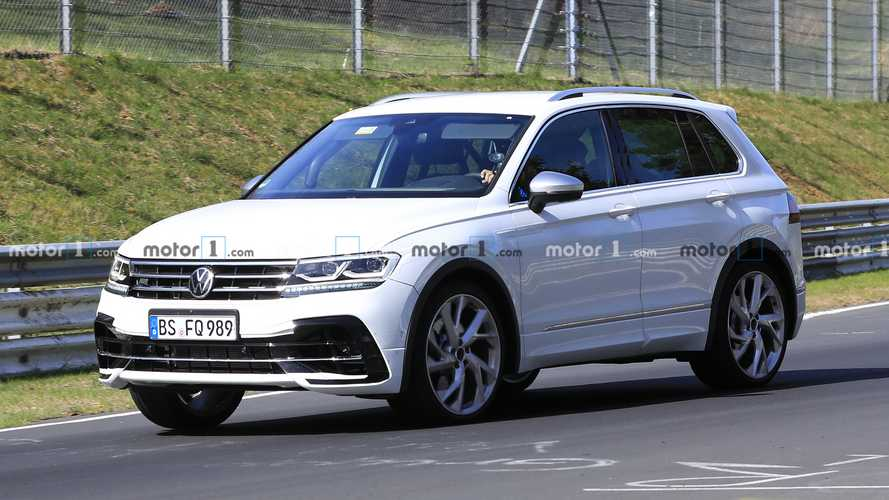 2021 Volkswagen Tiguan R spied strutting its stuff at the 'Ring