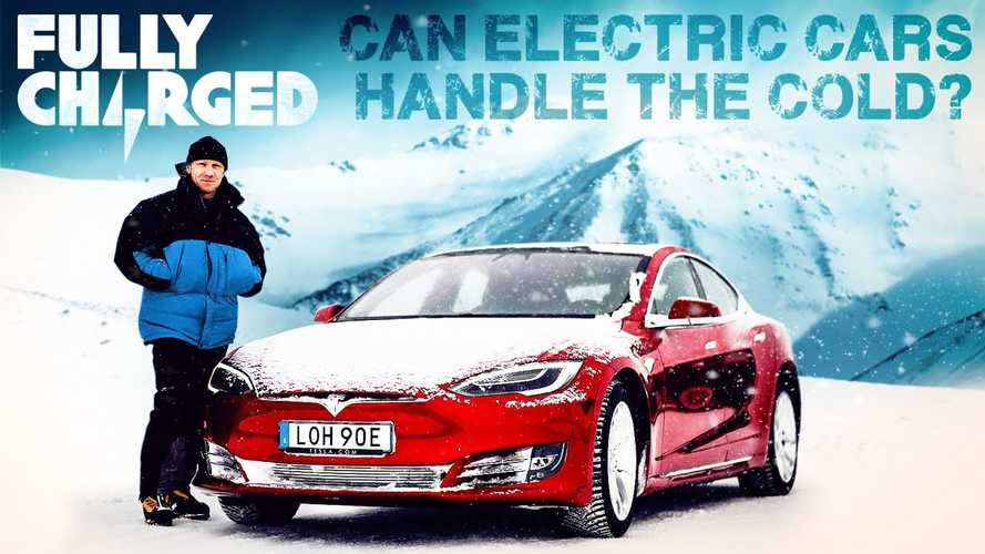 Watch Fully Charged Test Teslas At A Frozen Lake