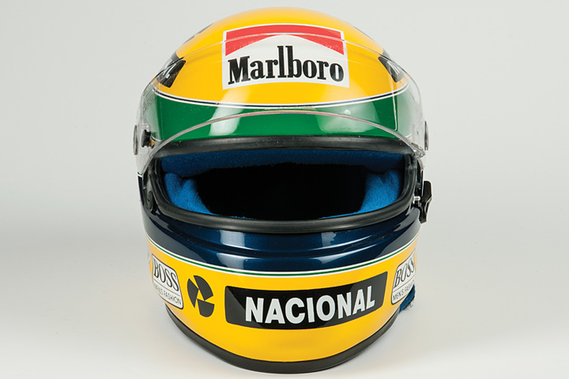 This 1993 Ayrton Senna F1 Racing Helmet is Up for Auction