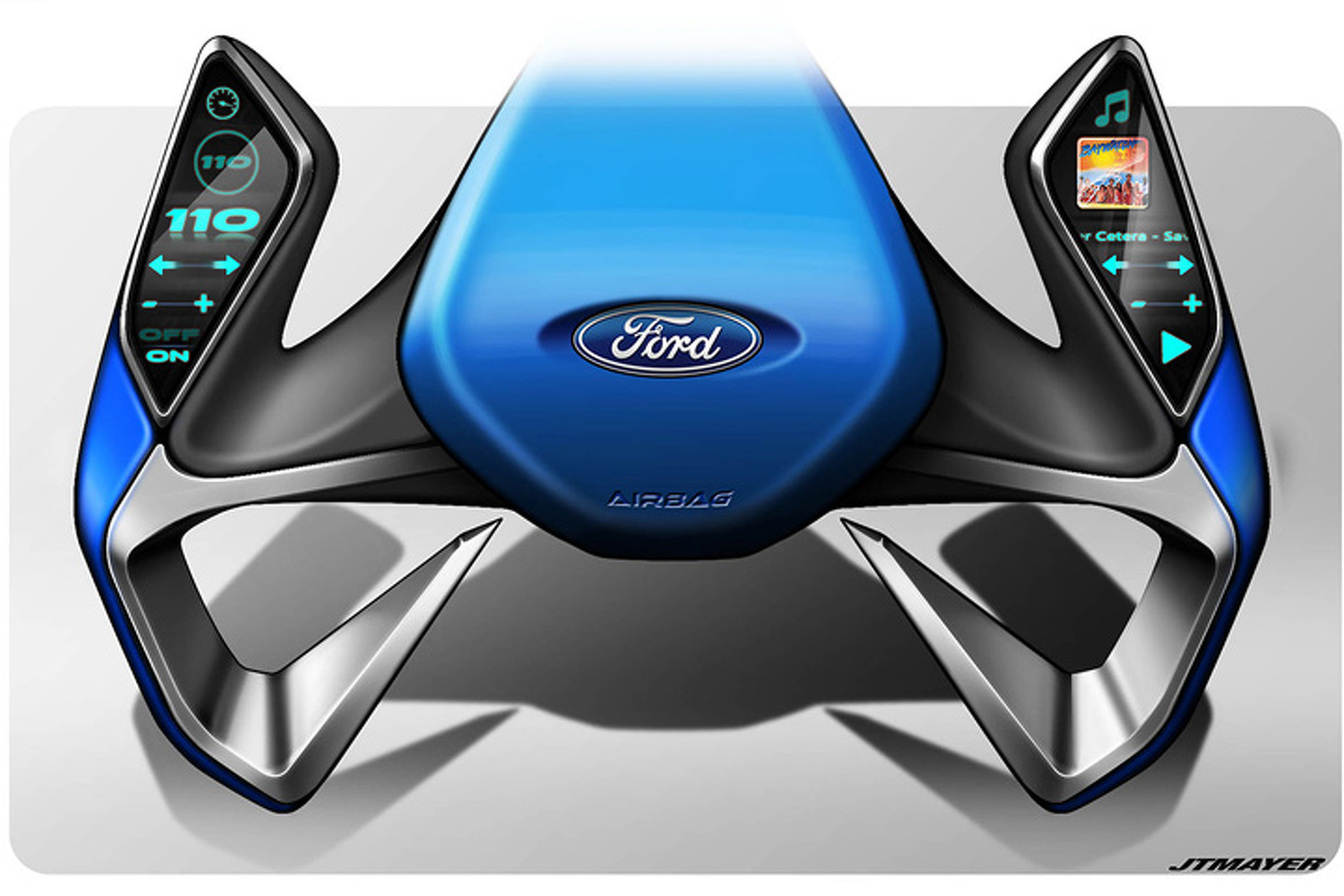 this could be the ford steering wheel of the future Future Car BMW Wheels