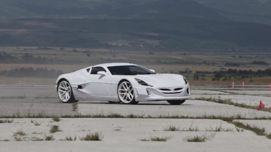 Croatian military loans runway to Rimac for supercar testing