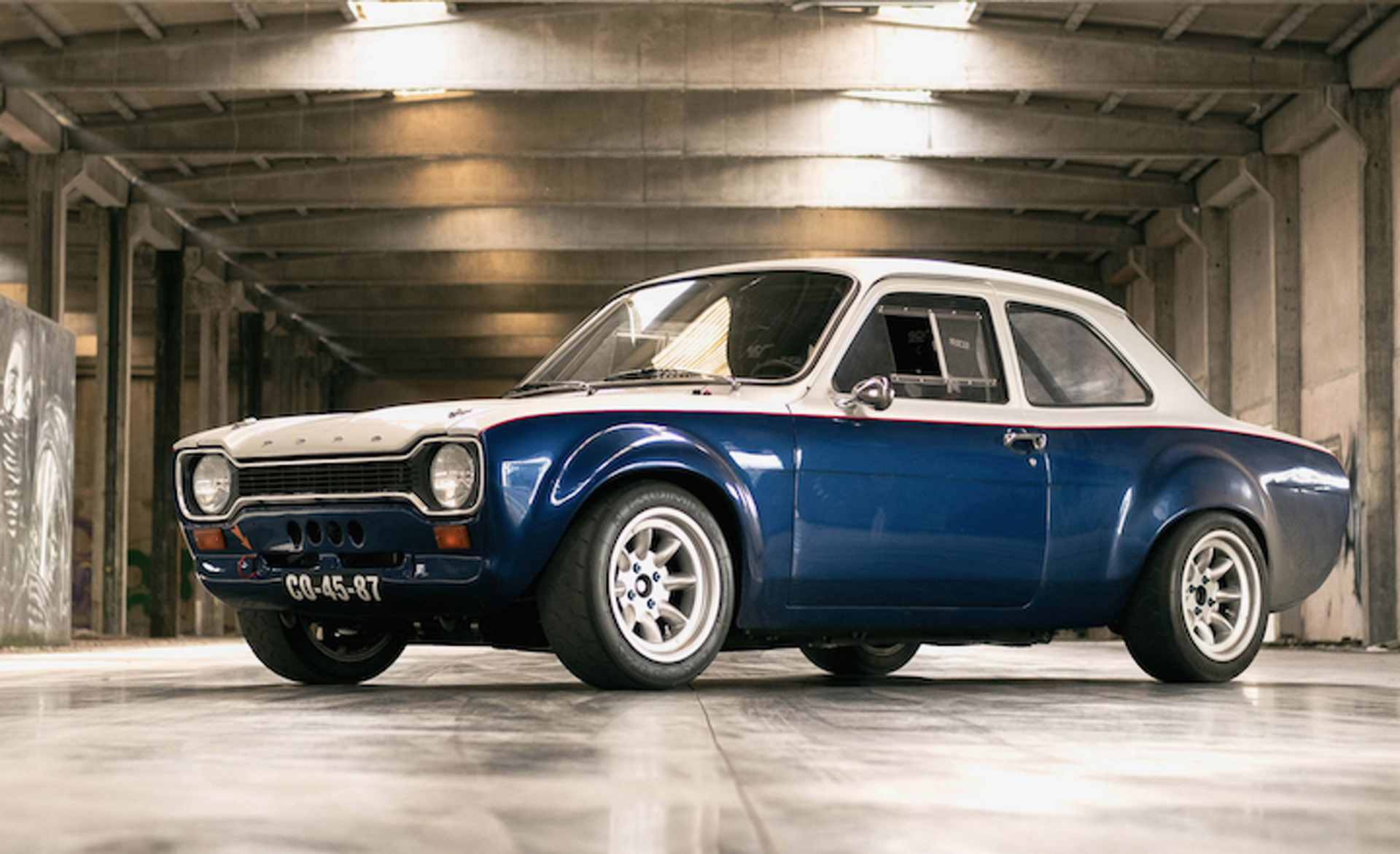 1974 ford escort mk1 restored to its former glory promptly does donuts