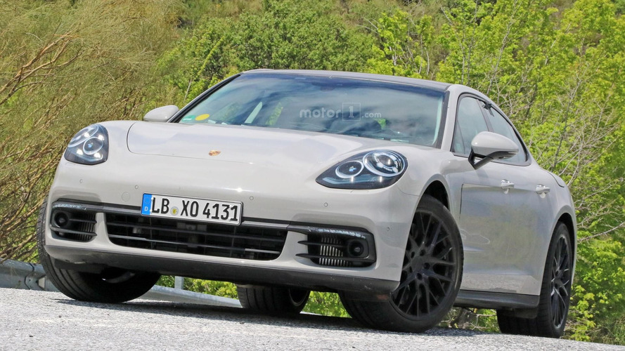 2017 Porsche Panamera with almost no camo spy photos