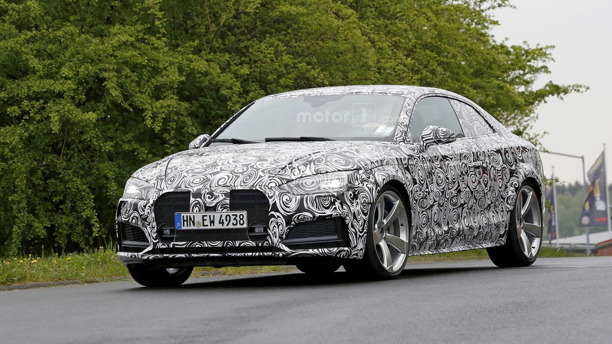 Audi RS 5 spied near the 'Ring with turbo power