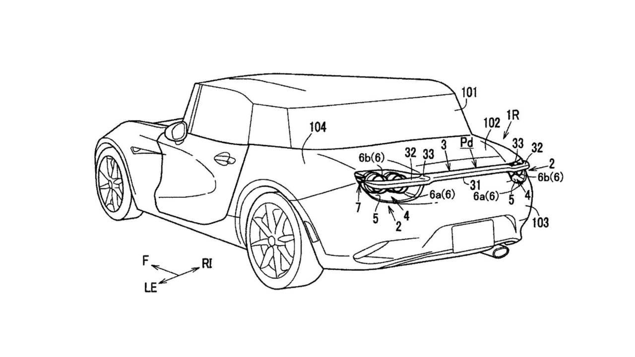 Mazda patente de alerón trasero