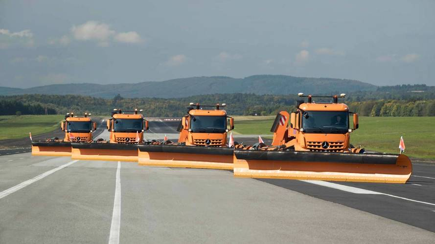 Mercedes-Benz Tests Gigantic Autonomous Airport Snowplows