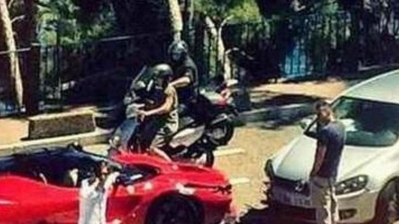 LaFerrari & Volkswagen Golf crash in Monaco