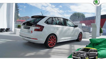 Skoda Rapid Spaceback Red & Grey Collection