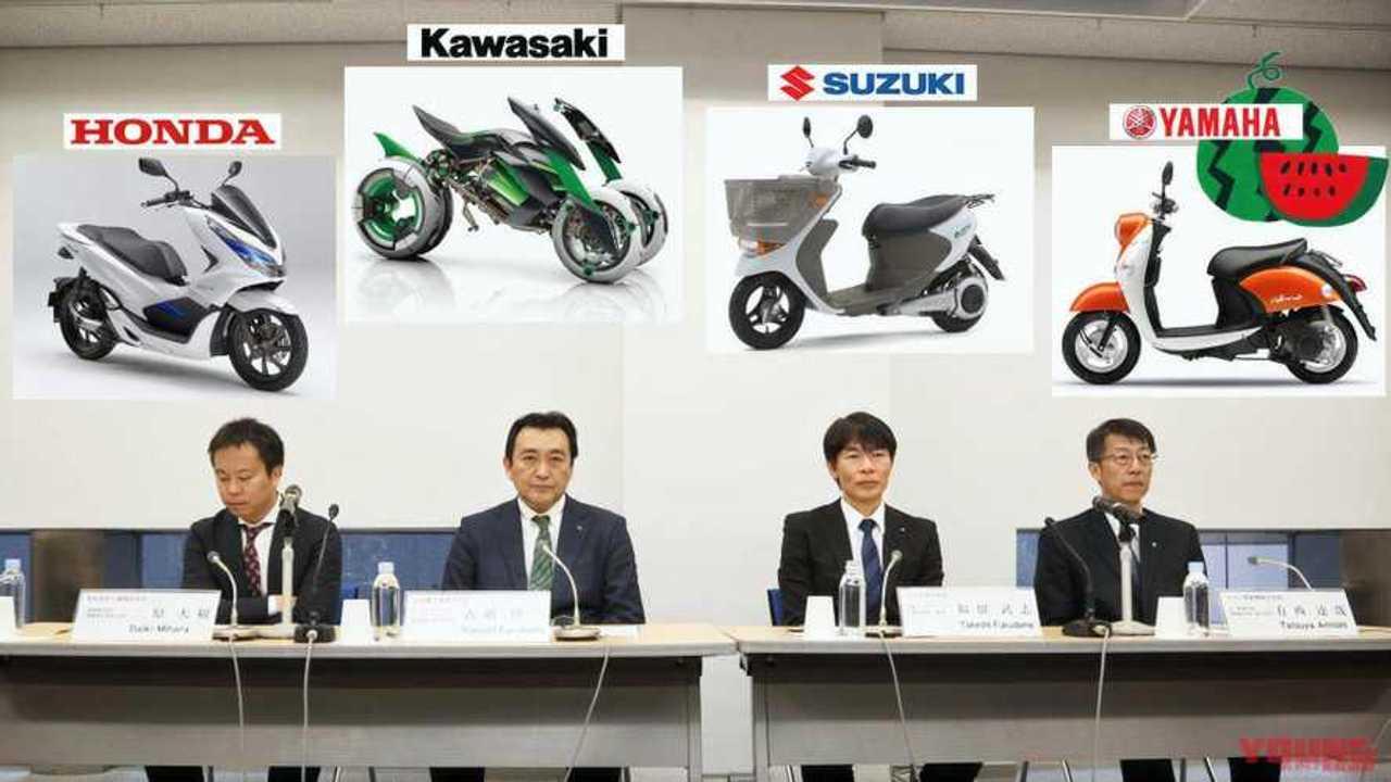 Honda, Kawasaki, Suzuki, Yamaha Electric Battery Swap Consortium