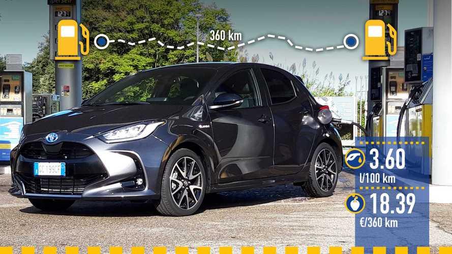 Toyota Yaris Hybrid (2020), la prova dei consumi reali